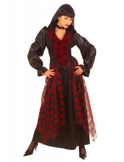 Viktorianische Vampirin Damenkostüm rot-schwarz