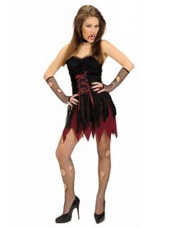 Sexy Viktorianische Vampirin Damenkostüm schwarz-rot