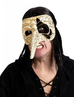 Venezianische Maske Zerbrochen-Optik elfenbein