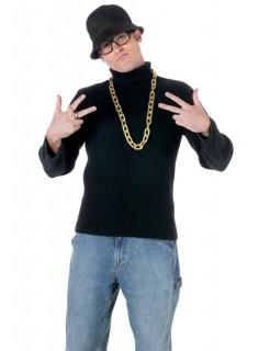 Rapper Kostüm-Set schwarz-gold