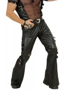 Rocker Hose Schnallen schwarz