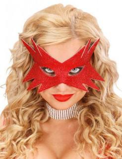 Glitzermaske Stern Augenmaske rot