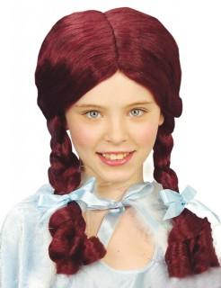 Zopf Kinder-Perücke burgundy