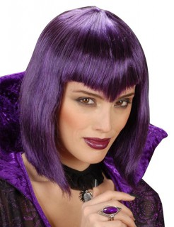 Gothic Vampir-Perücke kurz violett