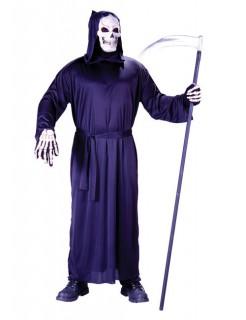 Tod Sensenmann Halloween-Robe mit Kapuze schwarz