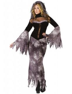 Bride of Darkness Zombie Halloween Damenkostüm schwarz-grau