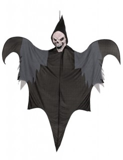 Tod Halloween-Hängefigur Sensenmann schwarz-grau 140cm