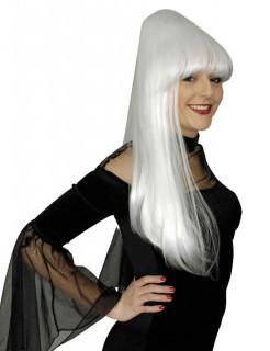 Sadia Halloween Perücke Hochfrisur weiß