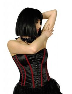 Gothic Corsage schwarz-rot