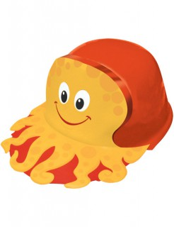 Oktopus Hut für Kinder orange-gelb