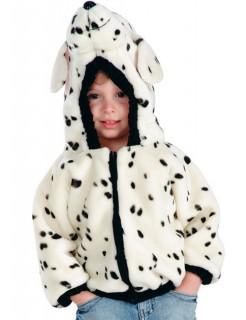 Dalmatiner Kinderkostüm Jacke mit Kapuze schwarz-weiss