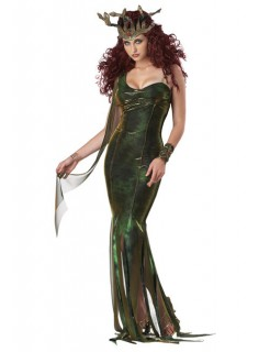 Teuflische Medusa Halloween Damen Kostüm grün