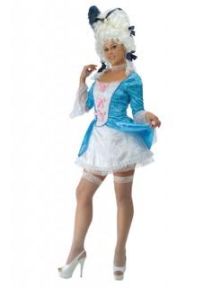 Marie Antoinette Barock Damenkostüm weiss-blau