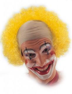 Clown Perücke mit Halbglatze gelb