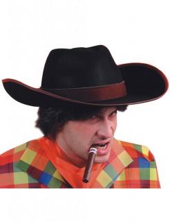Gangster Cowboy Hut schwarz-braun