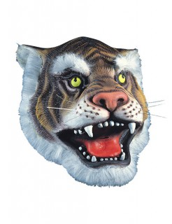 Tiger Karnevalsmaske weiss-braun
