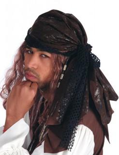 Piraten-Bandana braun-schwarz