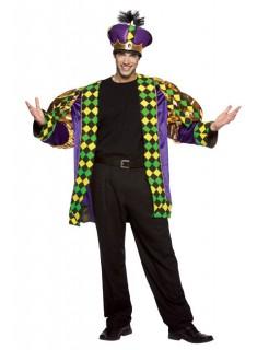 Prinz Karneval Herrenkostüm gelb-grün-lila