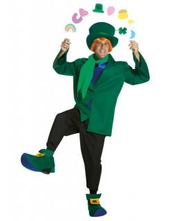Kobold Kostüm Glücksbringer grün-schwarz