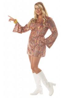70er Disco Damenkostüm übergröße bunt