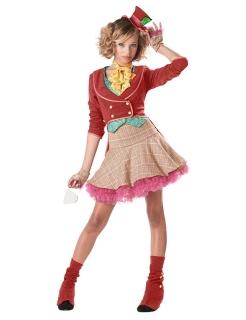 Zirkusclown Teenagerkostüm bunt