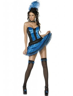Showgirl Kostüm schwarz-blau