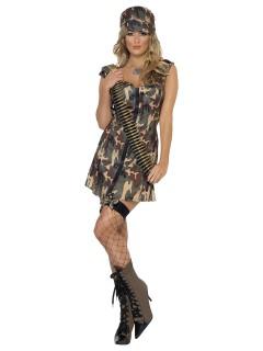 Sexy Armee Kostüm für Damen camouflage