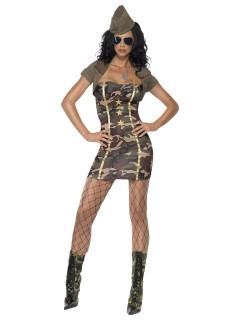Sexy Major Kostüm camouflage
