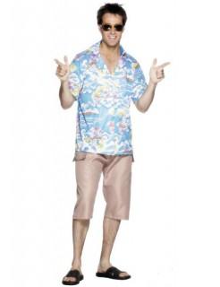 Hawaii Hemd Kostüm-Zubehör blau