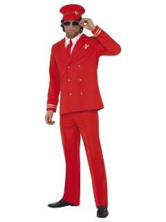 Pilot Kostüm Steward rot