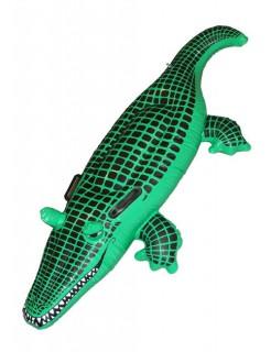 Aufblasbares Krokodil Wasser-Schwimmtier grün 140cm