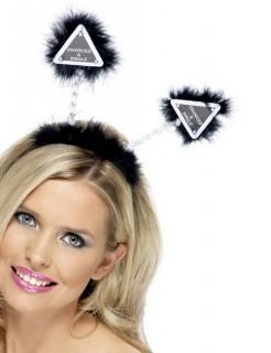 Junggesellinnen-Haarreif Party Accessoire schwarz