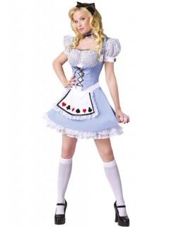 Alice Damenkostüm Märchen hellblau-weiss
