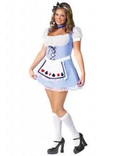 Alice Damenkostüm Märchen XL blau-weiss