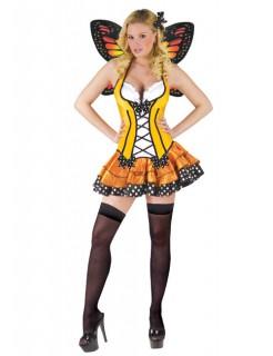 Sexy Schmetterling Damenkostüm gelb