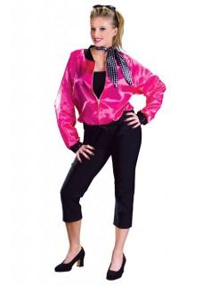 Rock'n'Roll Kostüm schwarz-pink