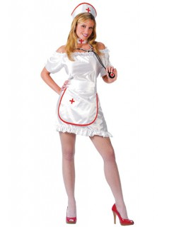 Nette Krankenschwester Kostüm weiss-rot