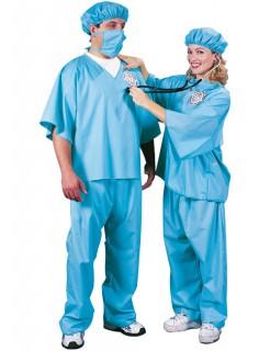 Arzt Karneval-Kostüm blau