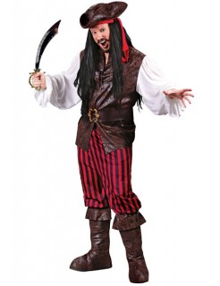 Pirat Kostüm schwarz rot