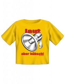 Kinder Fun-T-Shirt Laut aber hübsch gelb