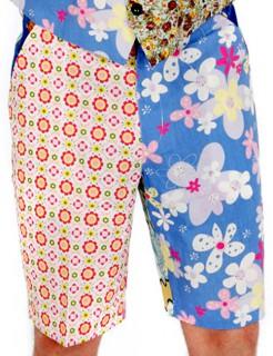 Foul Fashion Second Hand Shorts Herrenhose bunt