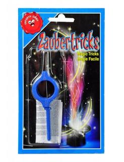 Zaubertrick Fingerschwert Geschenkartikel blau-grau