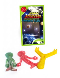 Alien Shooter Scherzartikel grün-rot-gelb