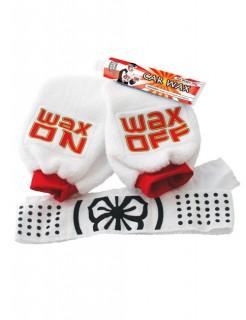 Karate Kit Handschuh-Set für Autopolitur 4-teilig weiss-rot-schwarz