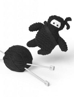 Strickset Ninja mit Anleitung schwarz