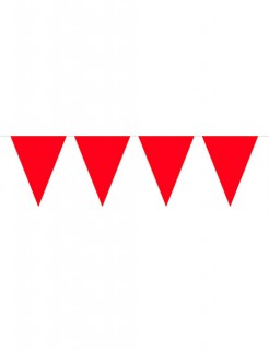 Wimpelkette Party-Deko rot 10m
