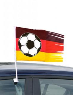 Autofahne mit Fransen Fussball-Fanartikel schwarz-rot-gelb 45x30cm