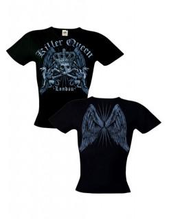 Killer Queen T-Shirt für Damen schwarz-grau
