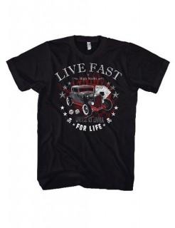 Live Fast T-Shirt schwarz