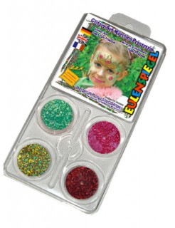 Glitzer Make-Up-Set Märchen-Prinzessin bunt 20g
